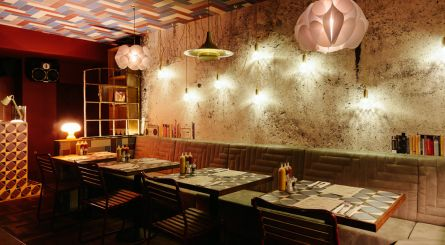 Inside the private dining room at Dirty Bones Kensington W8