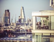 Sea Containers Events View Of City Of London With Millenium Bridge River Thames