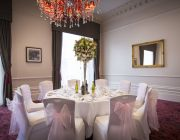 The Grosvenor Hotel The Viceroy Suite Private Dining Image Round Table Set For 10 Wedding Guests