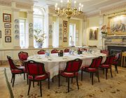 The Walbrook Club Private Dining Image Main Dining Room Small Oval Table Set For 12 Guests