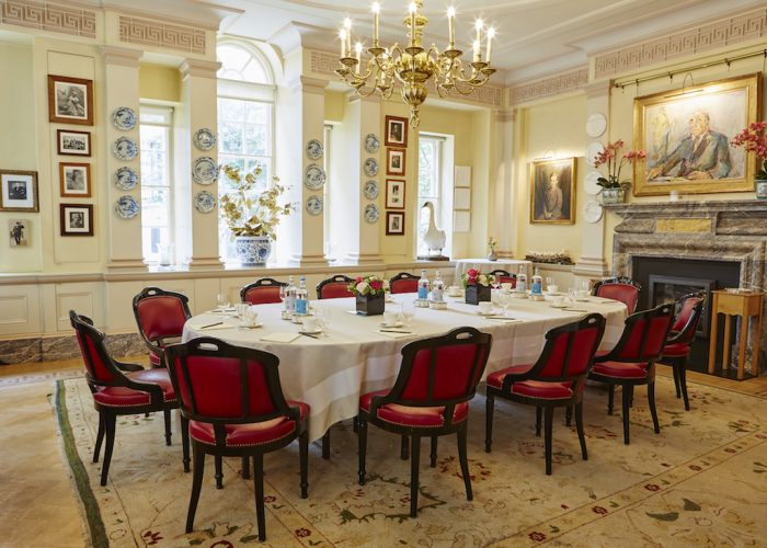 The Walbrook Club Private Dining Image Main Room Small Oval Table Set For 12 Guests