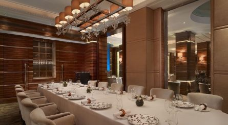 Inside of Dining Rooms at Alyn Williams at The Westbury - Mayfair, London W1