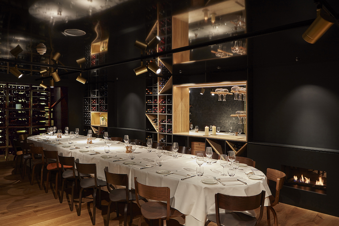 Luxury private dining rooms at enoteca turi belgravia for Best private dining rooms uk