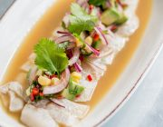 Radisson Blu Edwardian Hampshire Hotel Food Image Sea Bass Ceviche
