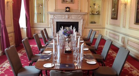 Interior shot of the luxury private dining rooms at The Caledonian Club - Belgravia, London SW1