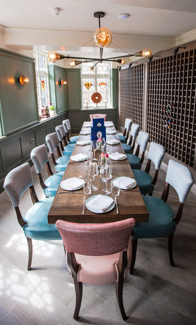 Luxury private dining rooms at clarette marylebone for Best private dining rooms uk