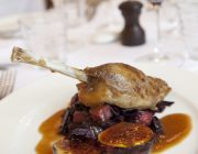Ognisko Restaurant Food Image Duck Leg With Figs And Apple