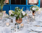 Granary Square Brasserie Private Dining Room Set Table Image Close Up