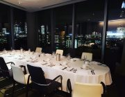 Blue Fin Venue Private Dining Room Image Night Time London Skyline In Background