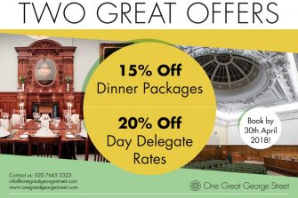 One Great George Street Private Dining Rooms Special Discount For Event Booking