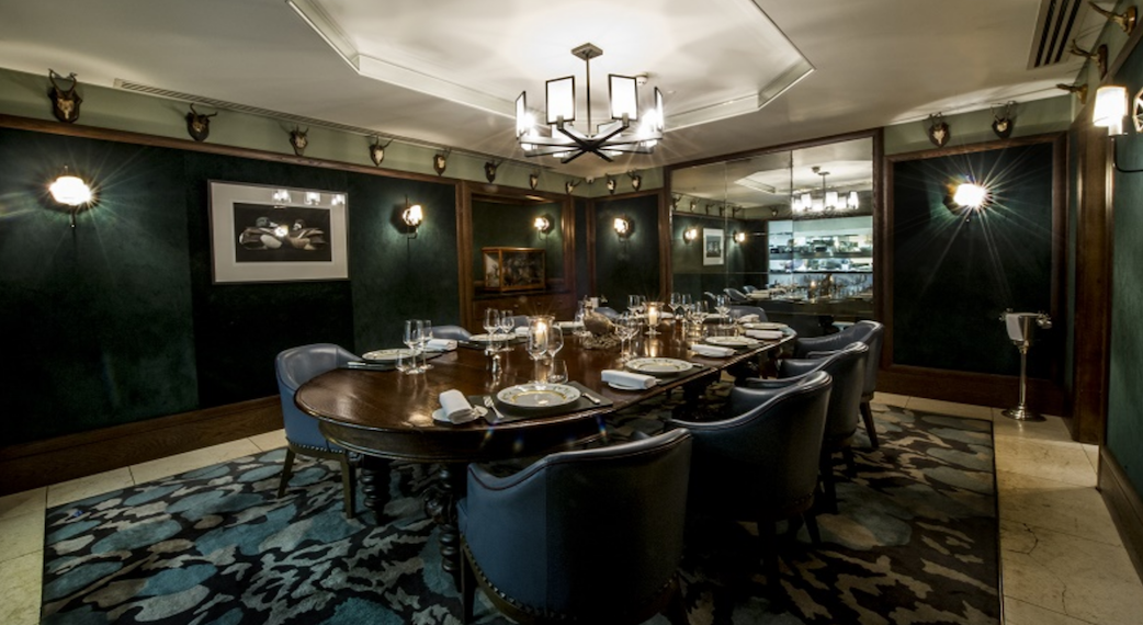 Private Dining Room at Corrigans Mayfair Homepage Image
