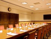 The Chamberlain Hotel Private Dining Room Image Table Set For Meeting