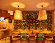 The Hydrant Private Dining Room Image With Potted Plants On Wall In Background