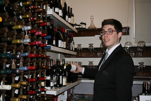 Davide Cavarzere Sommelier at Royal Thames Yacht Club