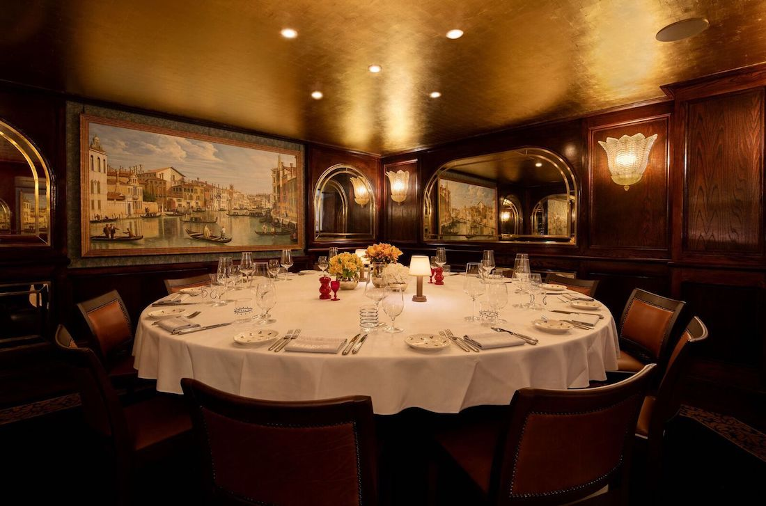The Canaletto Private Dining Room At Harry S Dolce Vita