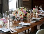the five fields - private dining image - set table