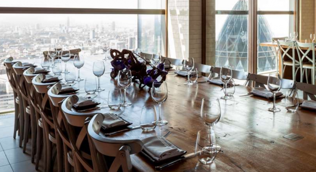 Duck Waffle Private Dining Room Masthead Image 1043x570