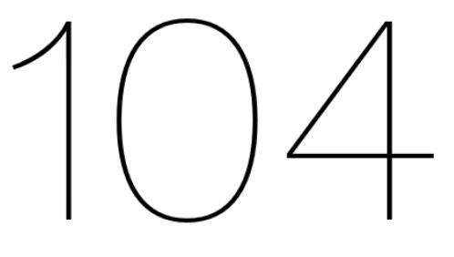 104 at Home logo