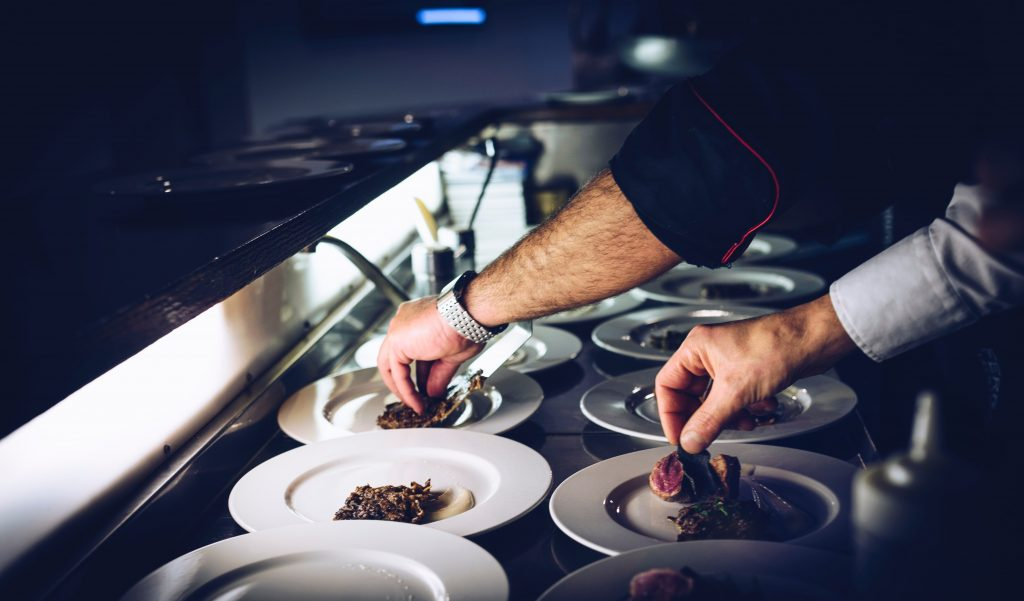 Types of food at a private dining event