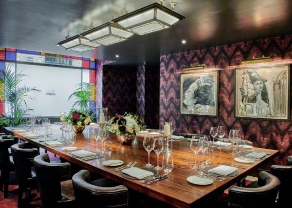 The Salon Privé Private Dining Room At Le Pont De La Tour 1024x729